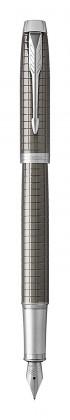 Перьевая ручка Parker IM Premium Dark Espresso Ciselled CT