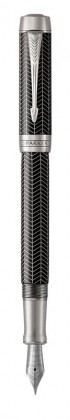 Перьевая ручка Parker Duofold Prestige Centennial Black Chevron CT