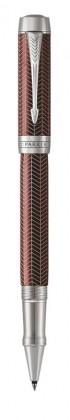 Ручка роллер Parker Duofold Prestige Centennial Burgundy Chevron CT