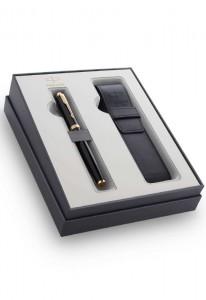 Набор Parker IM Core Black GT GIFT 20 с чехлом для ручки