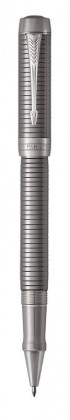 Ручка роллер Parker Duofold Prestige Ruthenium Chiselled CT