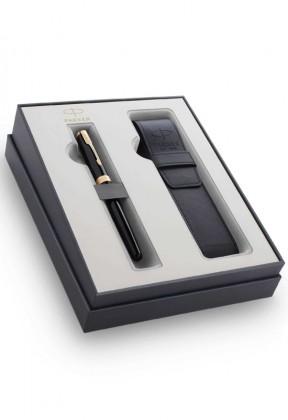 Набор Parker Sonnet Black GT GIFT 20 с чехлом для ручки