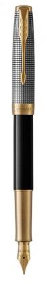 Перьевая ручка Parker Sonnet BLACK SILVER GT