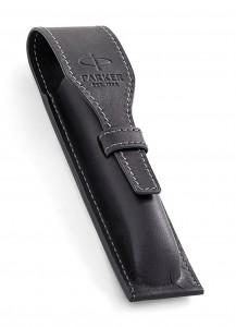 Чехол для ручки Parker кожаный (чёрный)