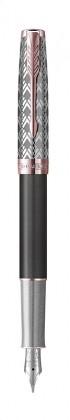 Перьевая ручка Parker Sonnet Premium Metal Grey PGT