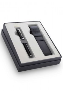 Набор Parker IM Core  Black CT GIFT 20 с чехлом для ручки