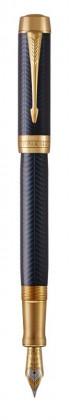 Перьевая ручка Parker Duofold Prestige Centennial Blue Chevron GT
