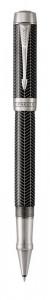 Ручка роллер Parker Duofold Prestige Centennial Black Chevron CT