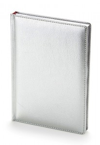 Ежедневник Sidney недатированный серебро