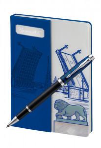 Подарочный набор PARKER IM BLUE ORIGIN с блокнотом