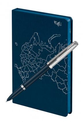 Подарочный набор Перьевая Ручка Parker 51 Core Midnight Blue Открывая Россию