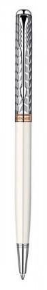 Шариковая ручка PARKER SONNET SLIM METAL&PEARL CT