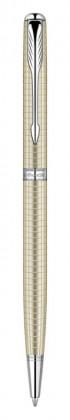 Шариковая ручка Parker Sonnet Ciselle Decal Silver CT Slim