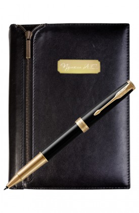 Подарочный набор VIP Ежедневник и ручка Parker Sonnet Laque Black GT
